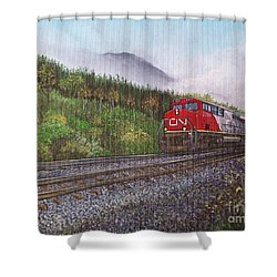 The Train West Shower Curtain