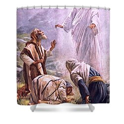 The Transfiguration Shower Curtain by Harold Copping