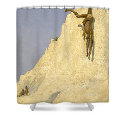 The Transgressor Shower Curtain by Fredrick Remington