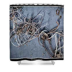 The Trapped Weed Shower Curtain by Rose Santuci-Sofranko