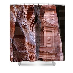 The Treasury Of Petra Jordan Shower Curtain