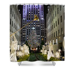 The Tree At Rockefeller Center Shower Curtain by Kenneth Cole