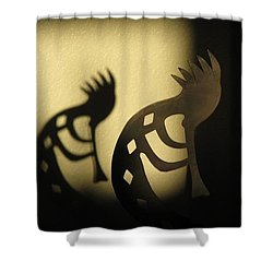 Shower Curtain featuring the photograph The Trickster by John Glass