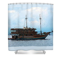 The Trip To Bunaken Shower Curtain by Sergey Lukashin