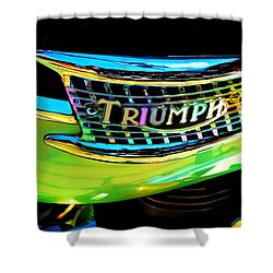 The Triumph Petrol Tank Shower Curtain