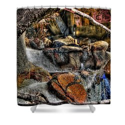 The Trolls Home Shower Curtain by Bill Gallagher