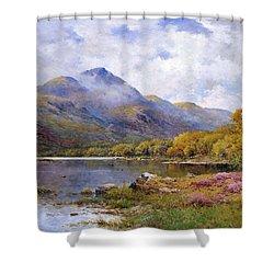 The Trossachs Ben  Shower Curtain by Alfred de Breanski Jr