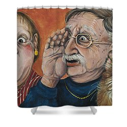 The Truth About Edna Shower Curtain by Shelly Wilkerson
