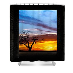 The Tunnel   Sunset1 Shower Curtain