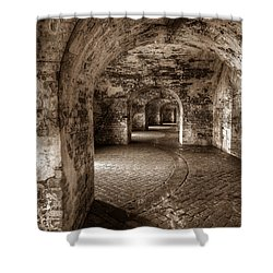 The Tunnels Of Fort Pike Shower Curtain