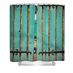 The Turquoise Gate Shower Curtain