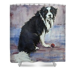 Shower Curtain featuring the painting The Twilight Years by Cynthia House