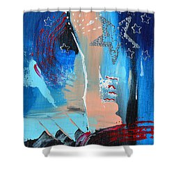The Twilight's Last Gleaming Shower Curtain by Donna Blackhall
