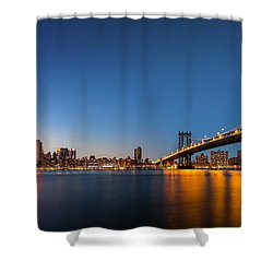 The Two Bridges Shower Curtain