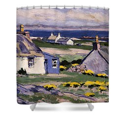 The Two Crofts Shower Curtain by Francis Campbell Boileau Cadell