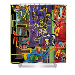 The Tzaddik Lives On Emunah 9c Shower Curtain by David Baruch Wolk