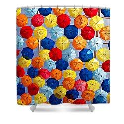 The Umbrella Sky Shower Curtain