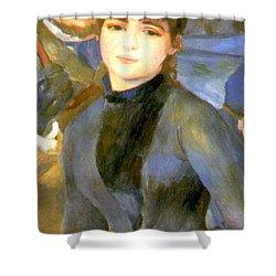 The Umbrellas Detail IIi Shower Curtain by Pierre Auguste Renoir