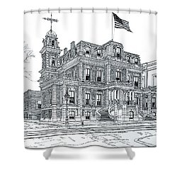 The Union League Philadelphia 1867 Shower Curtain by Ira Shander