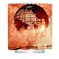 The Unisphere And Fountains Shower Curtain
