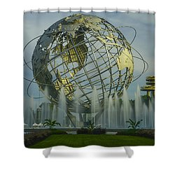 The Unisphere Shower Curtain by Theodore Jones