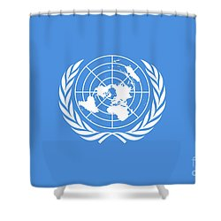The United Nations Flag  Authentic Version Shower Curtain by Bruce Stanfield