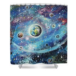 The Universe Is My Playground Shower Curtain by Dariusz Orszulik