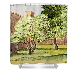 The University Of The South Campus Shower Curtain by Janet Felts