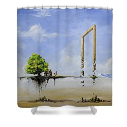 The Untold Story... Shower Curtain by Mariusz Zawadzki