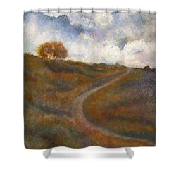 The Uphill Road Shower Curtain