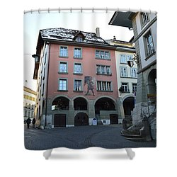 Shower Curtain featuring the photograph The Upper Town by Felicia Tica