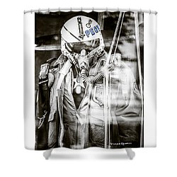 Shower Curtain featuring the photograph The U.s Airman by Stwayne Keubrick