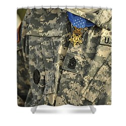 The U.s. Army Medal Of Honor Is Worn Shower Curtain by Stocktrek Images