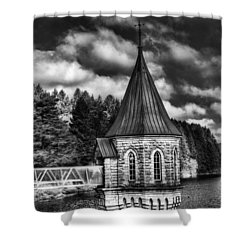 The Valve Tower Mono Shower Curtain by Steve Purnell