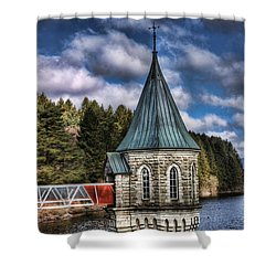The Valve Tower Shower Curtain by Steve Purnell