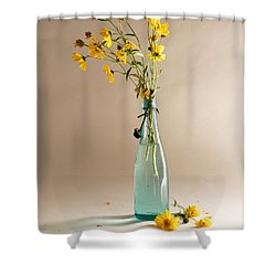 The Vase Shower Curtain by Mary Lee Dereske