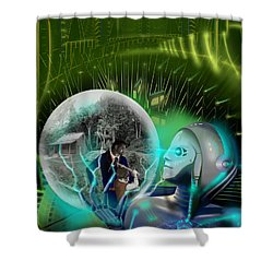 The Veneer Clause Shower Curtain by James Christopher Hill