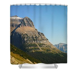 The Very First Snow In Montana In September Shower Curtain by Jeff Swan