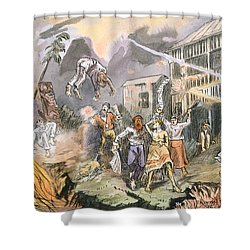 The Very Same Night The Whole Place Shower Curtain by English School