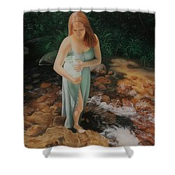 The Vessel Shower Curtain by Holly Kallie