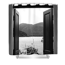 The View Shower Curtain by Andrea Anderegg