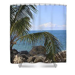 Key West Ocean View Shower Curtain
