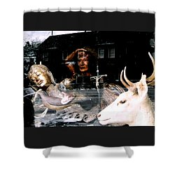 Shower Curtain featuring the photograph A Surreal View by Michael Hoard