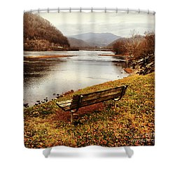 Shower Curtain featuring the photograph The View by Kerri Farley