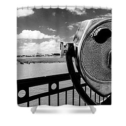 Shower Curtain featuring the photograph The Viewer by Sennie Pierson