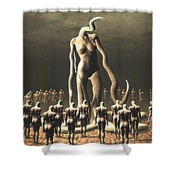 The Vile Goddess Shower Curtain