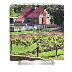The Vineyard Barn Shower Curtain