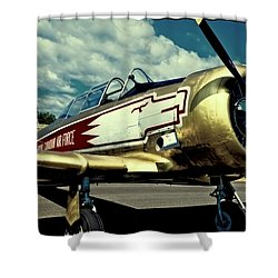 The Vintage North American T-6 Texan Shower Curtain by David Patterson