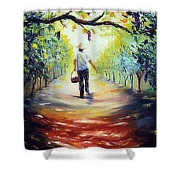 The Vintner Shower Curtain by Meaghan Troup