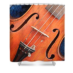 The Violin And The Memory Of Music In New Orleans Louisiana Shower Curtain